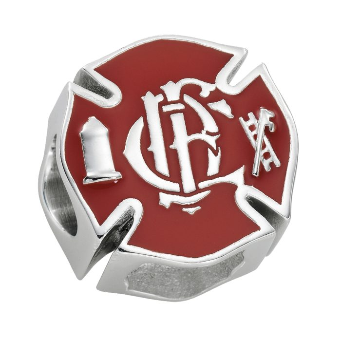 Chicago Fire Charm - Fits Pandora Bracelets - Sterling Silver 1