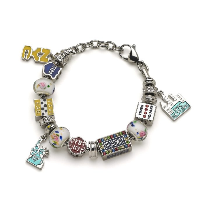 New York City (NYC) Charm Bracelet - Includes Bracelet and All Charms 1