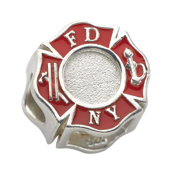 Fire Department of the City of New York Charm - FDNY Maltese Charm - Fits Pandora Bracelet 1