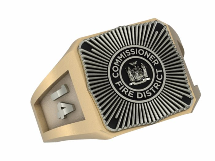 Mens Fire Department Commissioner Ring 1