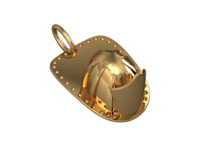Firefighters 3D Helmet Charm - Medium 1