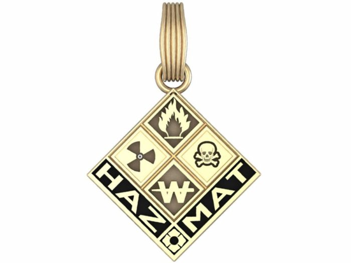 Hazmat Charm Antiqued Background 1