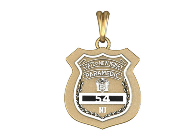 New Jersey Paramedic Shield Charm 1