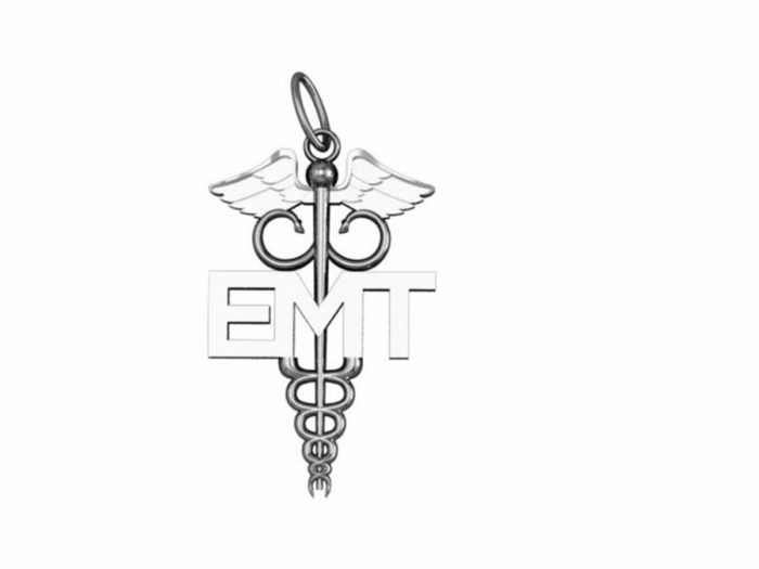EMT Caduceus Charm - Nickel Size 1