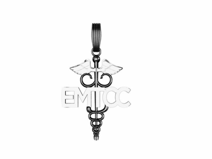 EMTCC Caduceus Charm - Nickel Size 1