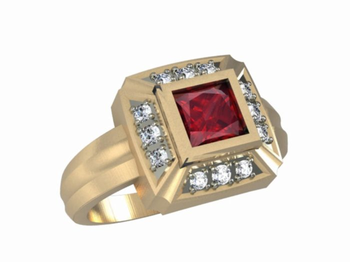 Womens Fire Department Firefighter Ring 1