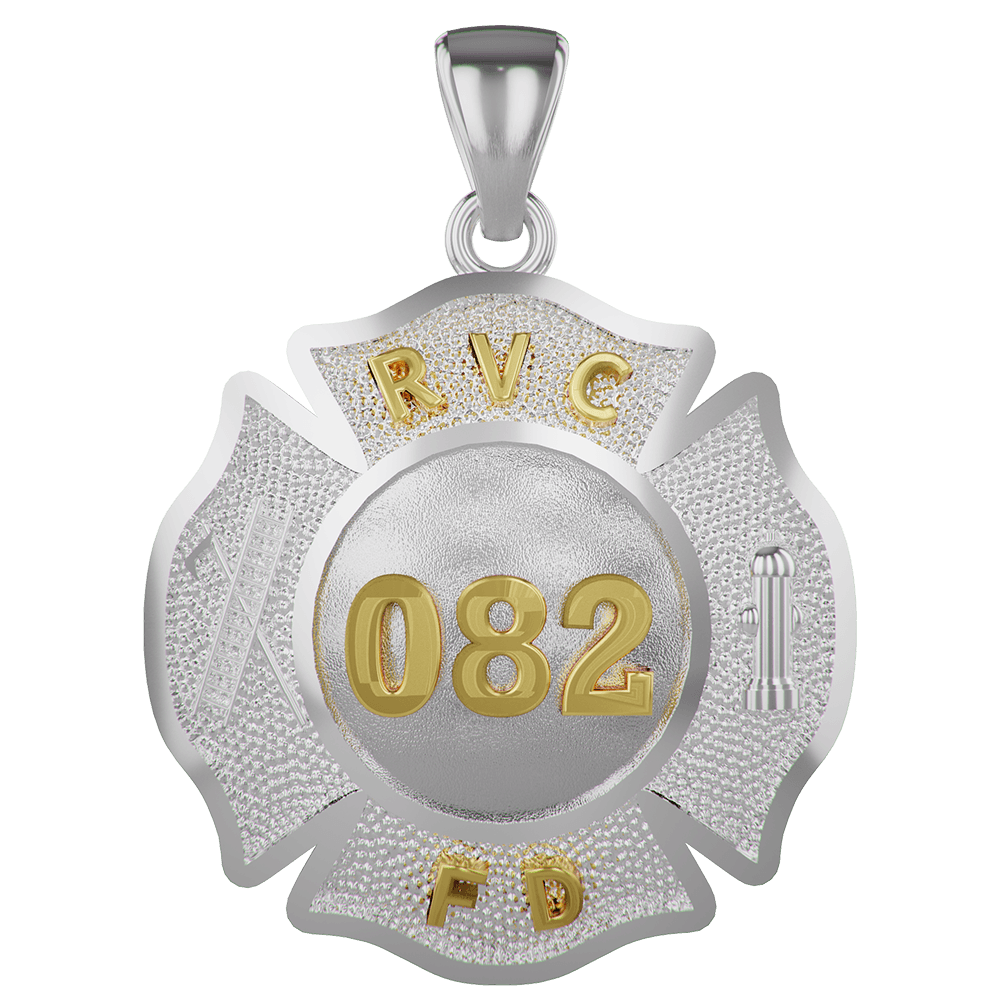 VFD Firefighters Penny Size Maltese Cross Necklaces