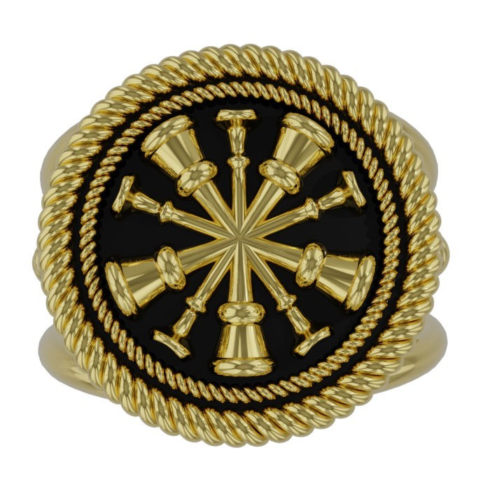 Womens Fire Department Chief Ring - 5 Horns 2