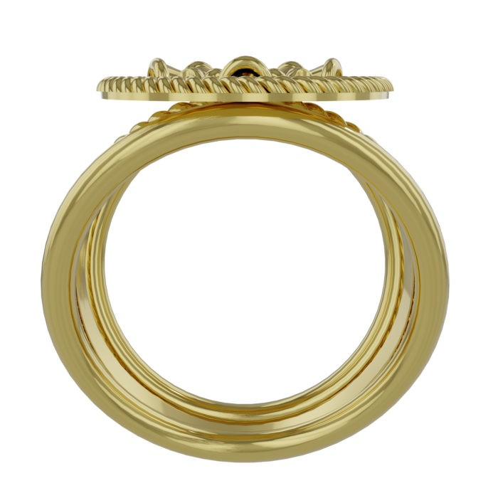 Womens Fire Department Chief Ring - 5 Horns 3