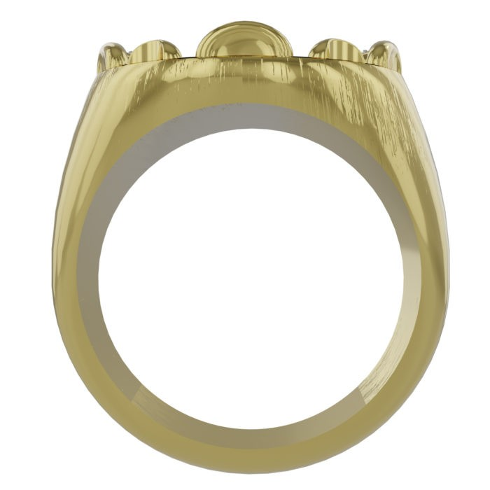 Womens 5-Horn Chief Ring with Diamonds 4